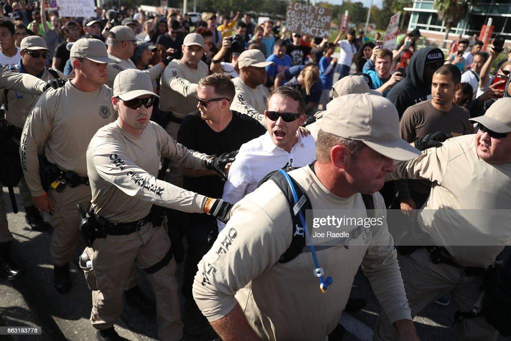 Hundreds Protests White Nationalist Richard Spencer Event