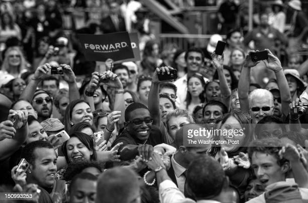AUGUST 28 Supporters reach to shake hands with President Barack Obama following a speech at a campaign event at Colorado State University in Fort...