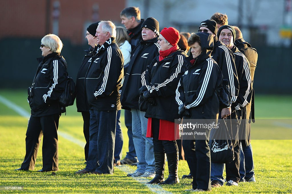 Supporters watch a training session at Latymers Upper School on November 29, 2012 in London, England.