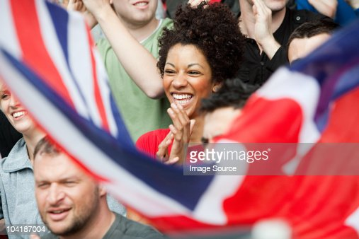 UK supporters with flag