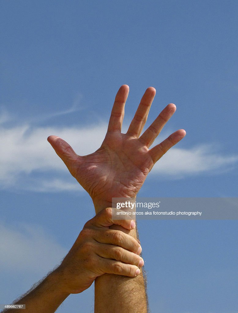 Supporting hand : Stock Photo