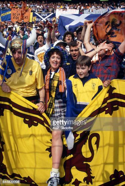 Supportrice Pays Bas / Ecosse Euro 1992 Photo Alain Gadoffre / Icon Sport