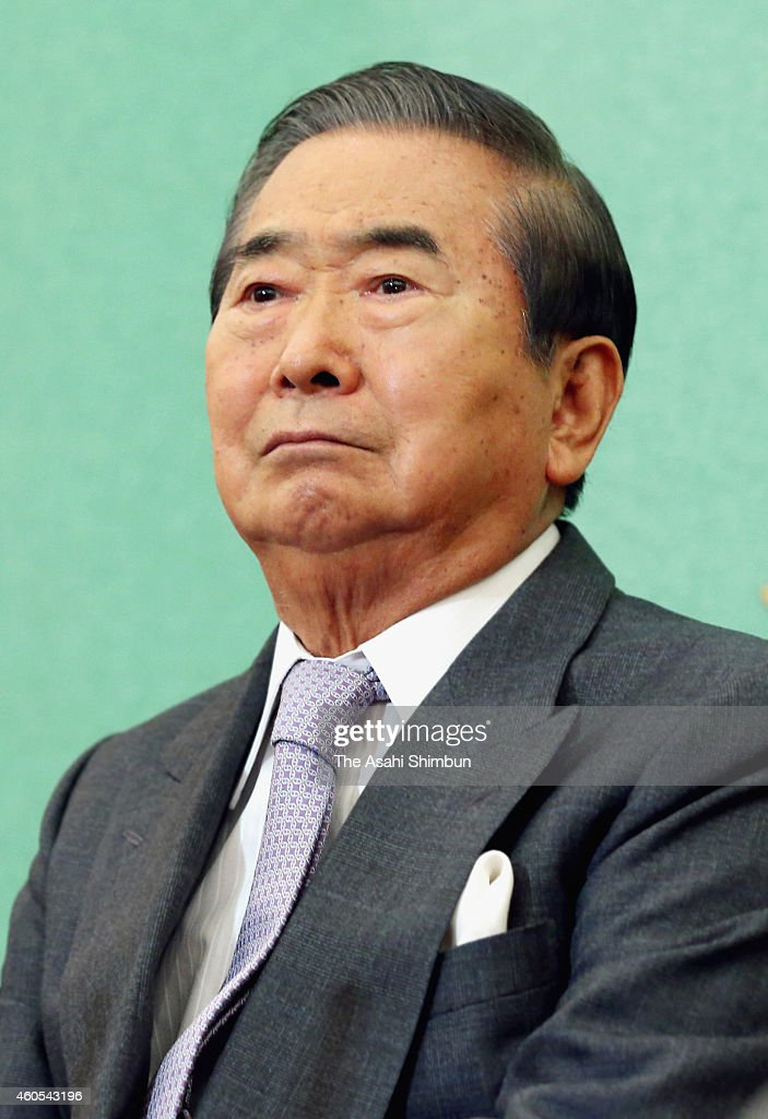 Supreme advisor of the Party for Future Generations <a gi-track='captionPersonalityLinkClicked' href=/galleries/search?phrase=Shintaro+Ishihara&family=editorial&specificpeople=665335 ng-click='$event.stopPropagation()'>Shintaro Ishihara</a> speaks during a press conference on his retirement from politics at Japan National Press Club on December 16, 2014 in Tokyo, Japan.