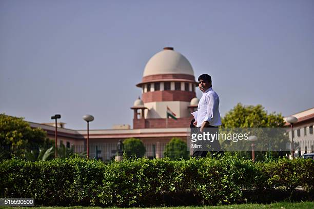 Supreme Court Advocate Kabir Dixit poses for a profile shoot on May 22 2015 in New Delhi India Kabir is helping formulate a public interest...
