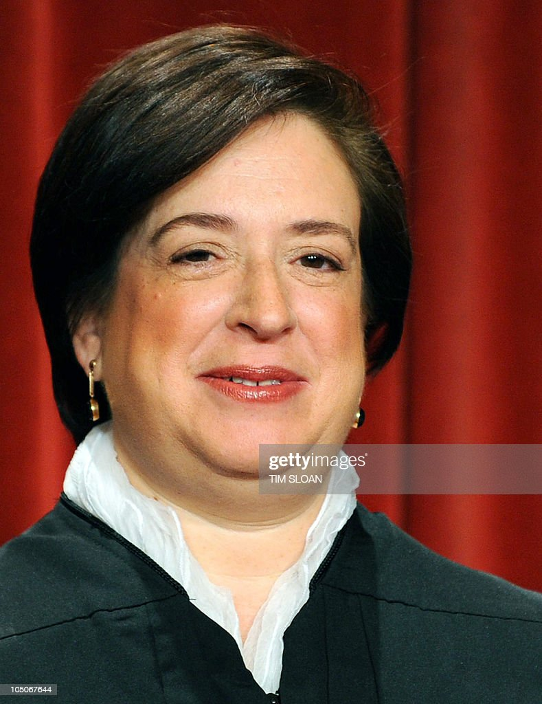 US Supreme Court Associate Justice Elena Kagan participates in the courts official photo session on October 8, 2010 at the Supreme Court in Washington, DC.