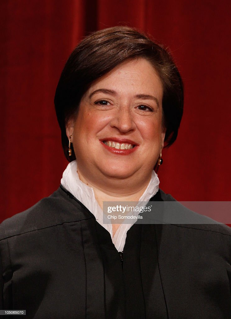 U.S. Supreme Court Associate Justice <a gi-track='captionPersonalityLinkClicked' href=/galleries/search?phrase=Elena+Kagan&family=editorial&specificpeople=5704239 ng-click='$event.stopPropagation()'>Elena Kagan</a> poses for photographs in the East Conference Room at the Supreme Court building October 8, 2010 in Washington, DC. This is the first time in history that three women are simultaneously serving on the court.