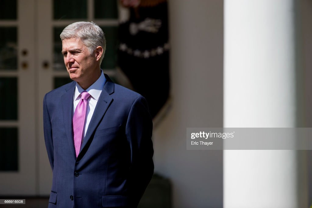 Neil Gorsuch Is Sworn In As Associate Justice To Supreme Court : News Photo
