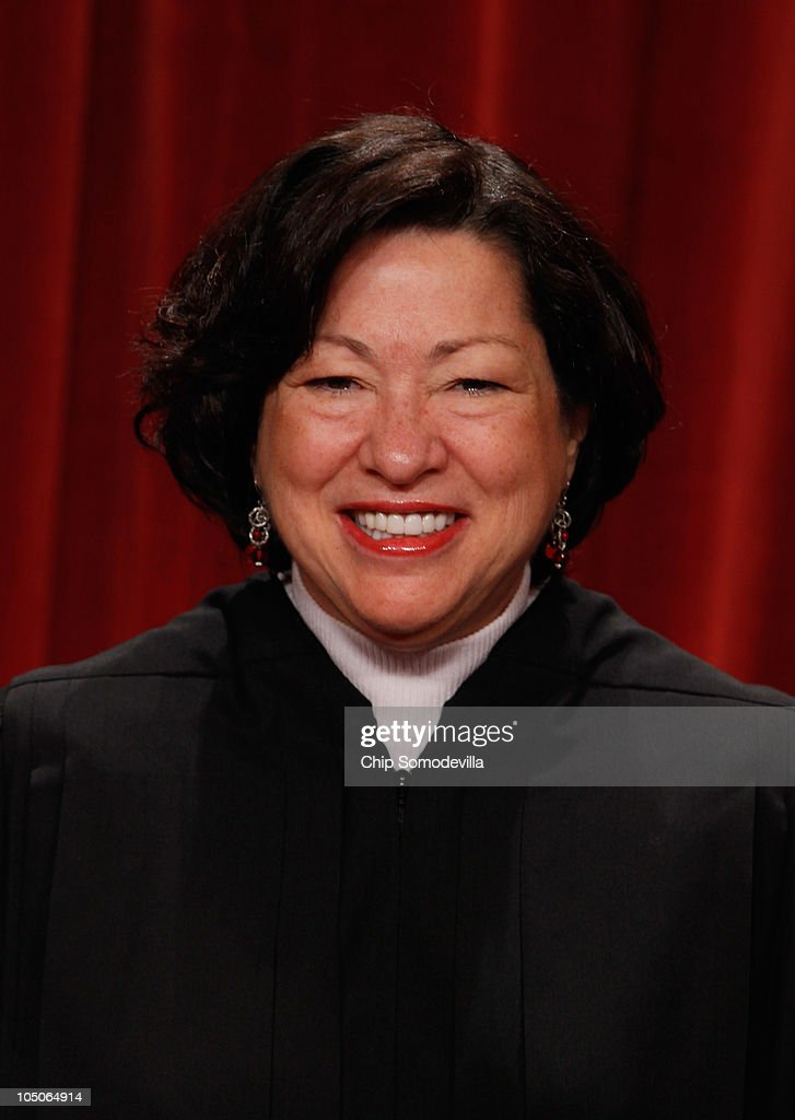 U.S. Supreme Court Associate Justice <a gi-track='captionPersonalityLinkClicked' href=/galleries/search?phrase=Sonia+Sotomayor&family=editorial&specificpeople=5872777 ng-click='$event.stopPropagation()'>Sonia Sotomayor</a> poses for photographs in the East Conference Room at the Supreme Court building October 8, 2010 in Washington, DC. This is the first time in history that three women are simultaneously serving on the court.