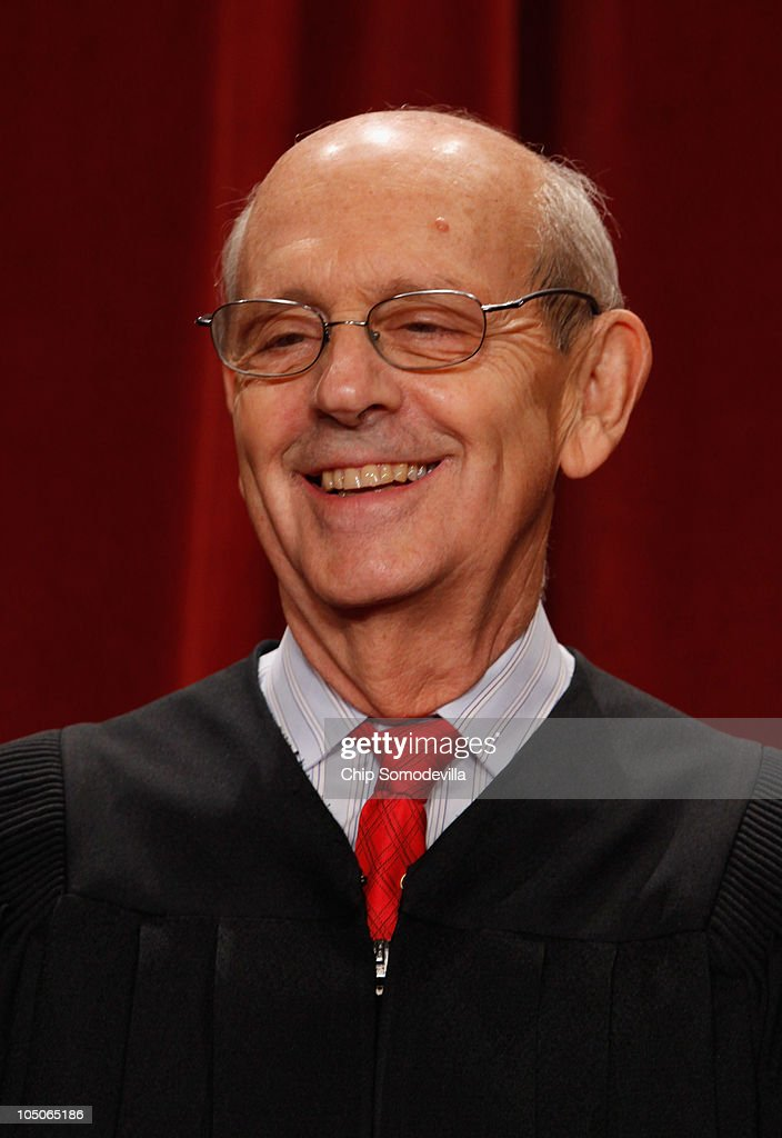 U.S. Supreme Court Associate Justice <a gi-track='captionPersonalityLinkClicked' href=/galleries/search?phrase=Stephen+Breyer+-+Judge&family=editorial&specificpeople=227411 ng-click='$event.stopPropagation()'>Stephen Breyer</a> poses for photographs in the East Conference Room at the Supreme Court building October 8, 2010 in Washington, DC. This is the first time in history that three women are simultaneously serving on the court.