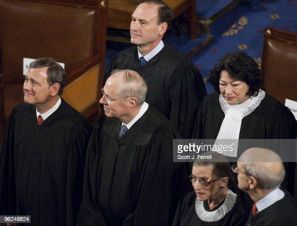 S Supreme Court Chief Justice John G Roberts Associate Justice Anthony M Kennedy Associate Justice Samuel A Alito Associate Justice Ruth Bader...