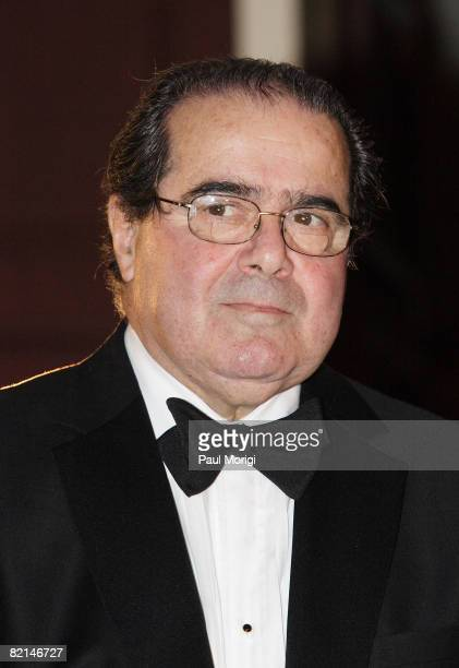S Supreme Court Justice Antonin Scalia arrives at the NIAF 32nd Anniversary Awards Gala at the Hilton Washington Towers on October 13 in Washington DC