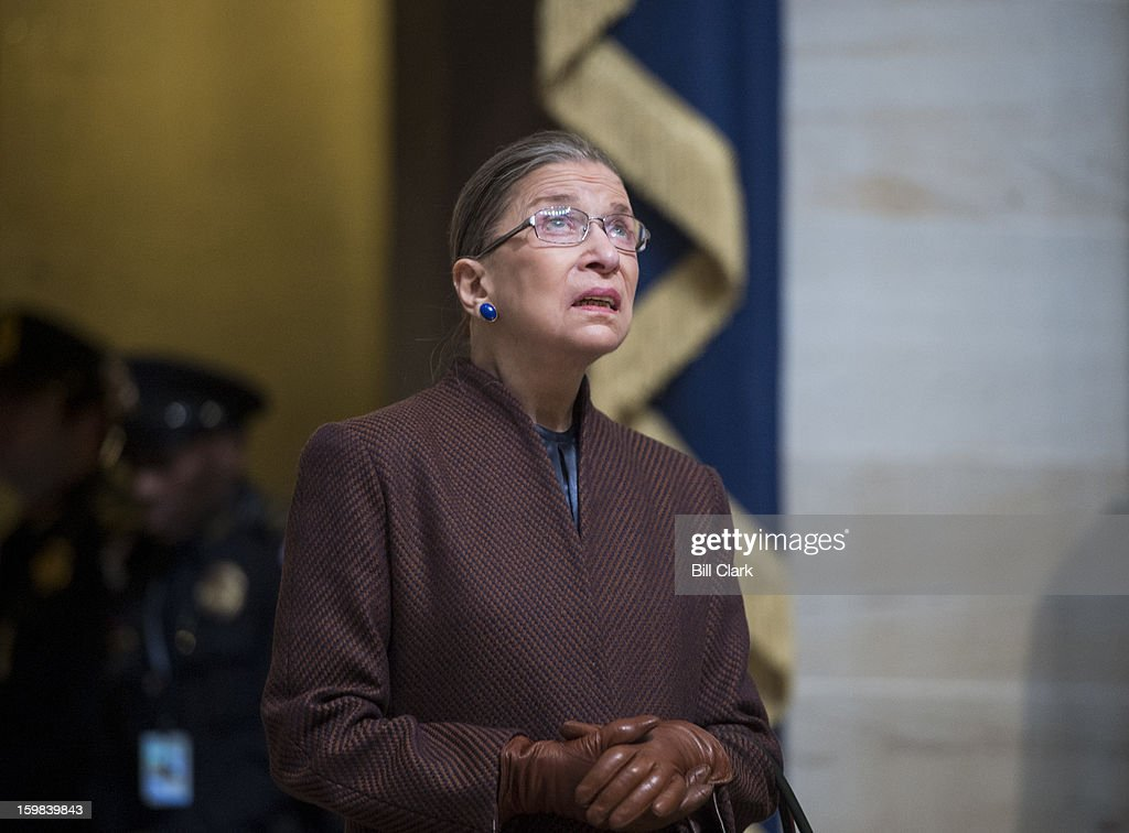 Supreme Court Justice Ruth Bader Ginsburg arrives for the luncheon in Statuary Hall during President Barack Obama's inauguration ceremony on Monday, Jan. 21, 2013.