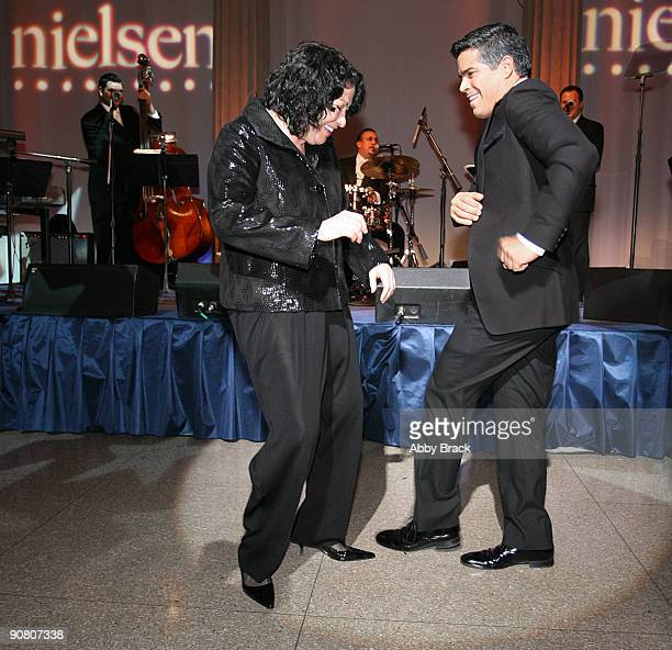 S Supreme Court Justice Sonia Sotomayor and actor Esai Morales salsa dance at the 13th Annual National Hispanic Foundation For The Arts Noche Musical...