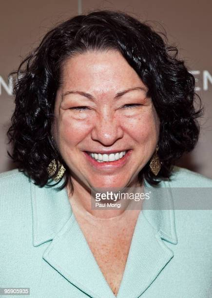 S Supreme Court Justice Sonia Sotomayor at the book signing and cocktail party for the release of Emilio Estefan's book 'The Rhythm of Success' at...