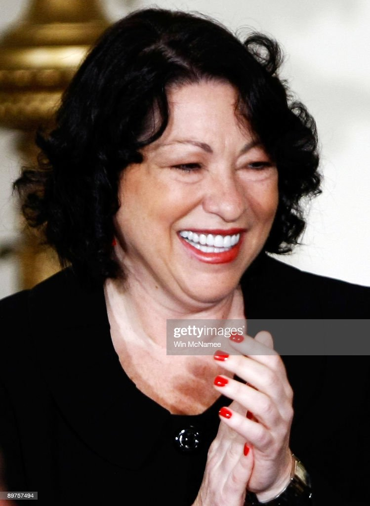 Supreme Court Justice Sonia Sotomayor attends a reception in her honor at the White House August 12, 2009 in Washington, DC. Sotomayor was sworn in as the first Hispanic Supreme Court Justice August 8, 2009.