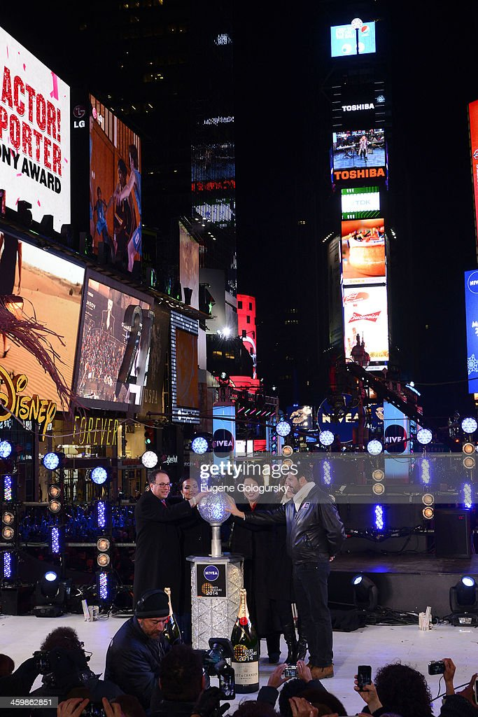 US Supreme Court Justice Sonya Sotamayor at New Year's Eve Countdown at Times Square on December 31, 2013 in New York City.