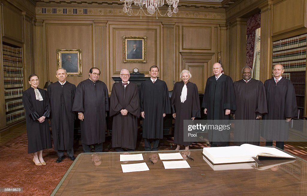 Supreme Court Justices Ruth Bader Ginsburg David H Souter Antonin Scalia John Paul Stevens Chief Justice John Roberts Justices Sandra Day O'Connor...