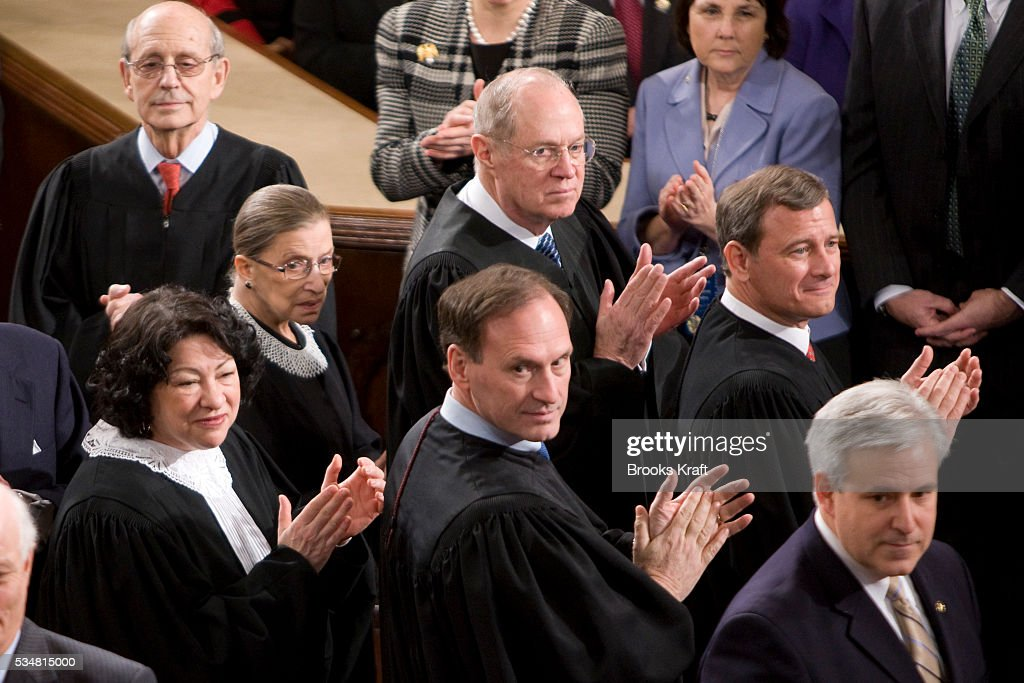 Supreme Court Justices Sonia Sotomayor Stephen Breyer Chief Justice John Roberts Ruth Bader Ginsburg Anthony Kennedy Samuel Alito and Sonia Sotomayor...