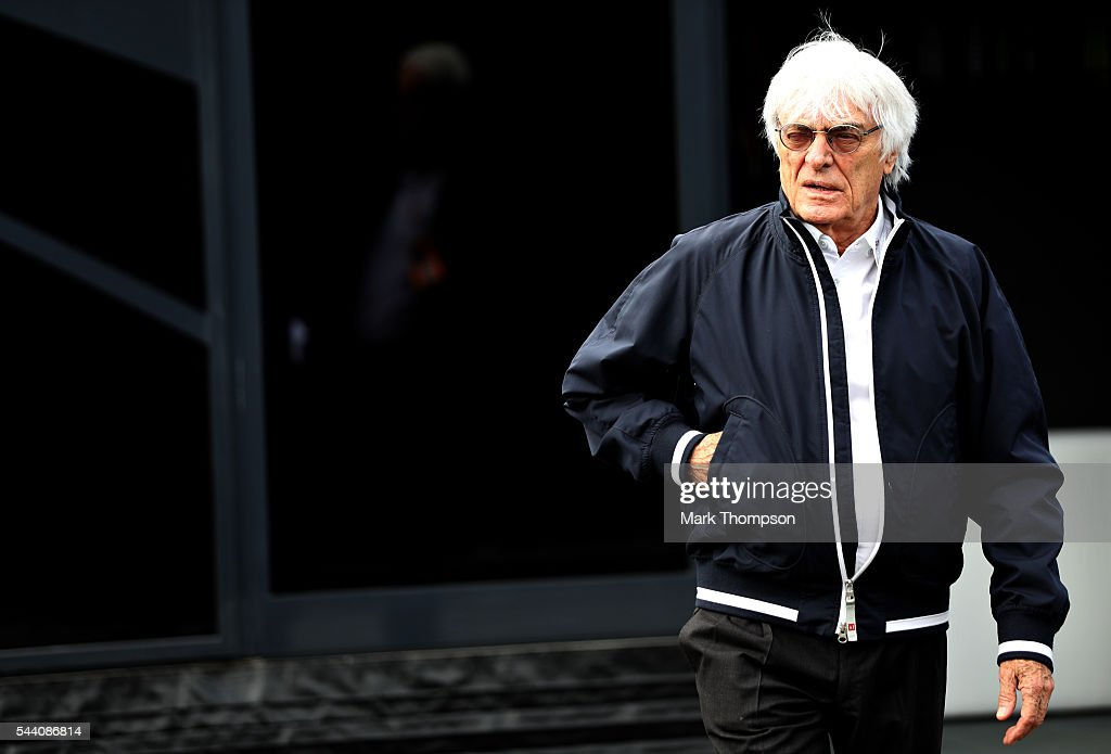 F1 supremo Bernie Ecclestone in the Paddock during practice for the Formula One Grand Prix of Austria at Red Bull Ring on July 1, 2016 in Spielberg, Austria.