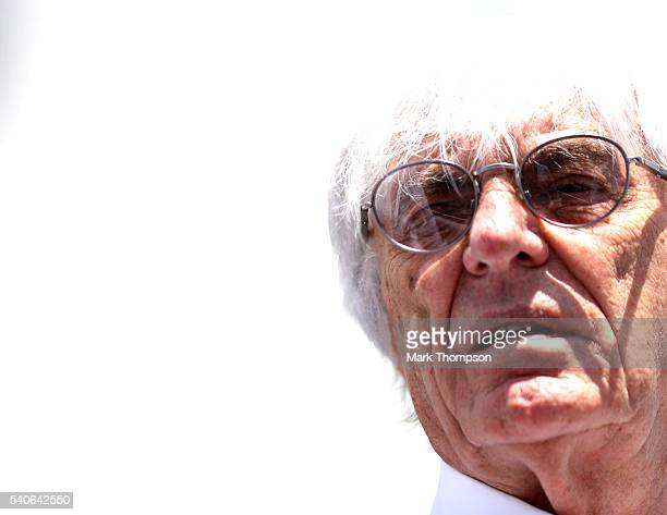 F1 supremo Bernie Ecclestone in the Paddock during previews ahead of the European Formula One Grand Prix at Baku City Circuit on June 16 2016 in Baku...