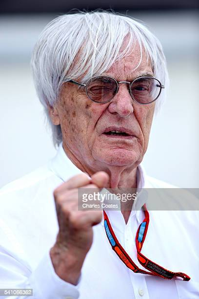 F1 supremo Bernie Ecclestone in the Paddock during qualifying for the European Formula One Grand Prix at Baku City Circuit on June 18 2016 in Baku...