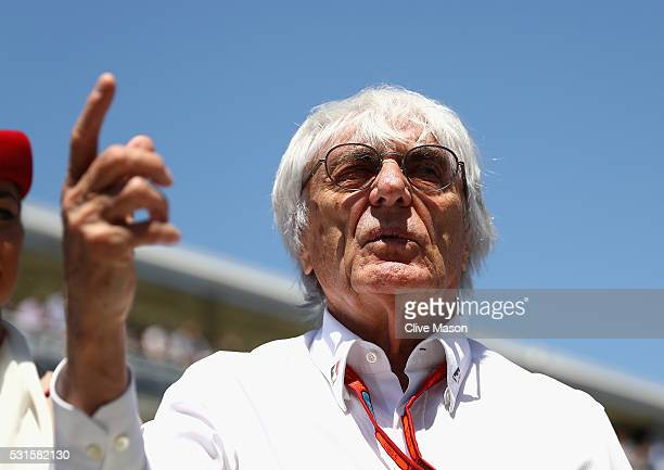 F1 supremo Bernie Ecclestone on the grid during the Spanish Formula One Grand Prix at Circuit de Catalunya on May 15 2016 in Montmelo Spain