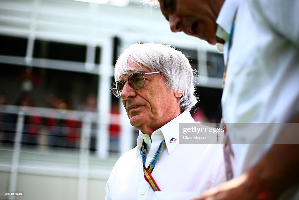 Supremo Bernie Ecclestone walks across the paddock prior to the Spanish Formula One Grand Prix at Circuit de Catalunya on May 11 2014 in Montmelo...