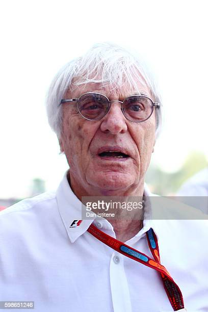 F1 supremo Bernie Ecclestone walks in the Paddock during practice for the Formula One Grand Prix of Italy at Autodromo di Monza on September 2 2016...