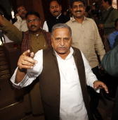 SP supremo Mulayam Singh Yadav during day 1 of the winter session of Parliament in New Delhi on Thursday November 19 2009