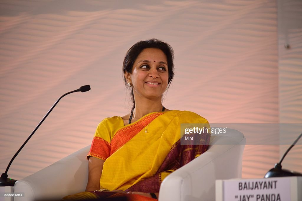 Supriya Sule speaks during session on The challenges before us on December 4, 2015 in New Delhi, India.