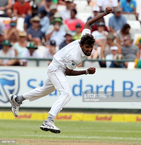 Suranga Lakmal of Sri Lanka during day 1 of the 2nd test between South Africa and Sri Lanka at PPC Newlands on January 02 2107 in Cape Town South...