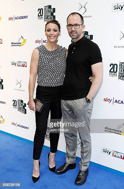 Suranne Jones and Laurence Akers arrive for the The South Bank Sky Arts Awards at The Savoy Hotel on June 5 2016 in London England