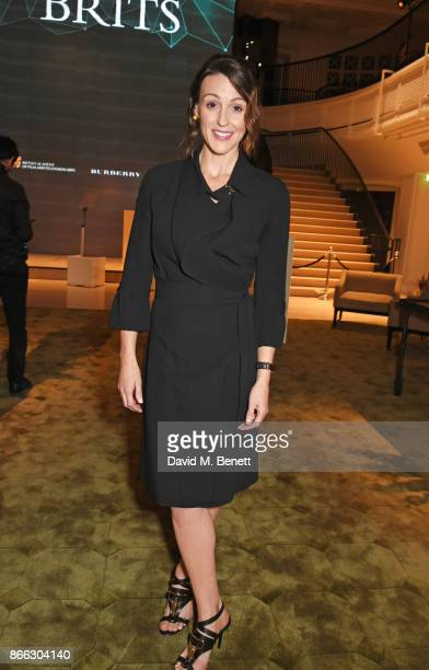 Suranne Jones attends the Burberry BAFTA Breakthrough Brits 2017 at Burberry on October 25 2017 in London England