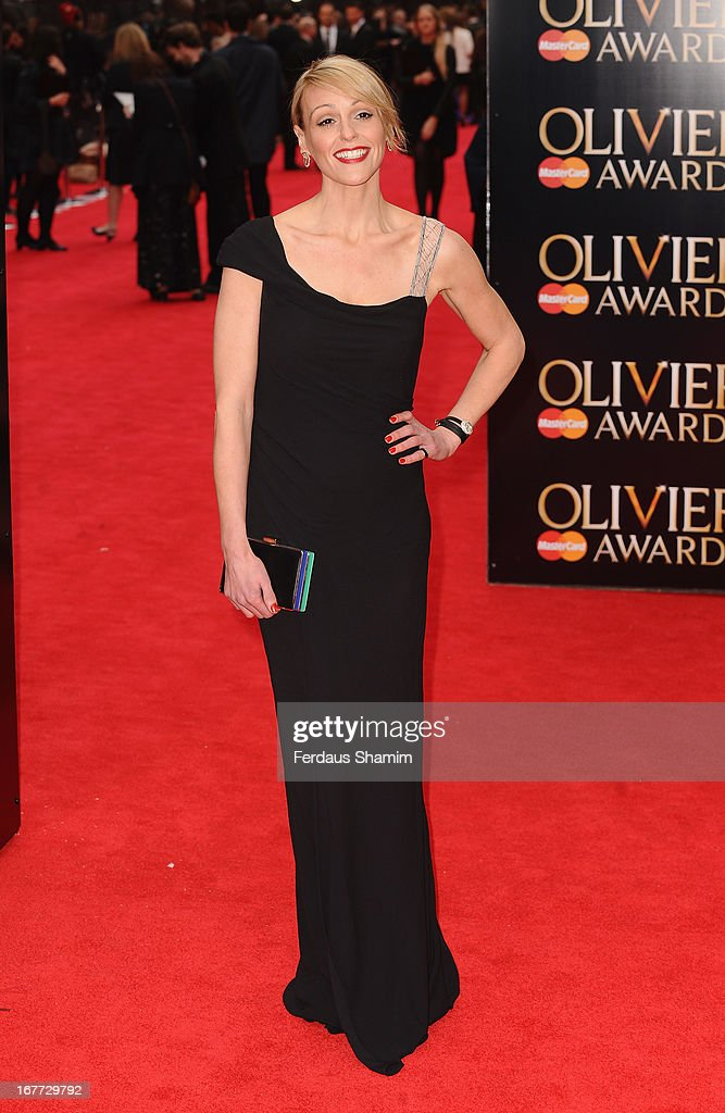 Suranne Jones attends The Laurence Olivier Awards at The Royal Opera House on April 28, 2013 sLondon, England.