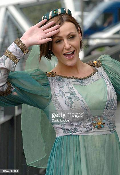 Suranne Jones during London Flora Marathon Celebity Photocall April 21 2006 at The Thistle Tower in London Great Britain