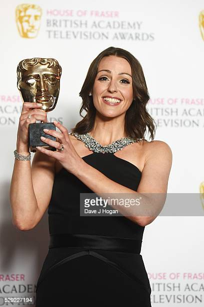 Suranne Jones poses for a photo in the winners room during the House Of Fraser British Academy Television Awards 2016 at the Royal Festival Hall on...
