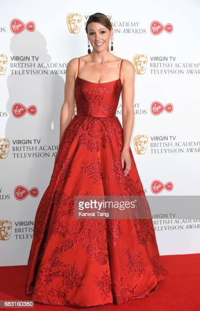 Suranne Jones poses in the Winner's room at the Virgin TV BAFTA Television Awards at The Royal Festival Hall on May 14 2017 in London England