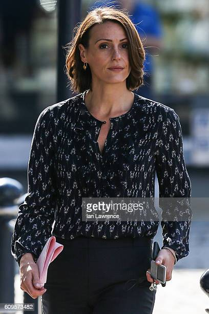 Suranne Jones seen filming BBC drama Doctor Foster in the market town of Hitchin on September 21 2016 in Hitchin Hertfordshire England