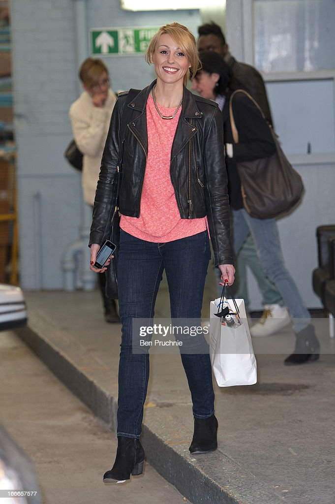 Suranne Jones sighted departing ITV Studios on April 15, 2013 in London, England.