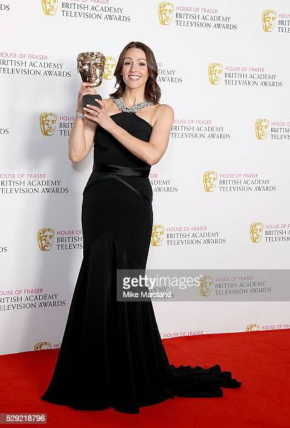 Suranne Jones winner of the Leading Actress award for 'Doctor Foster' poses in the winners room at the House Of Fraser British Academy Television...