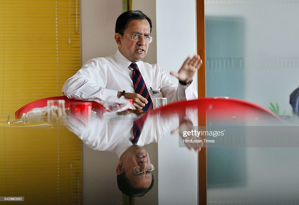 Suresh Narayanan, Managing Director, Nestle India Ltd, during an interview with Hindustan Times at the Nestle Headquarters, on September 3, 2015 in Gurgaon, India.