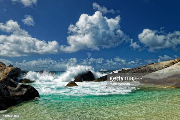 Surf at The Baths National Park, Virgin Gorda, British Virgin Islands