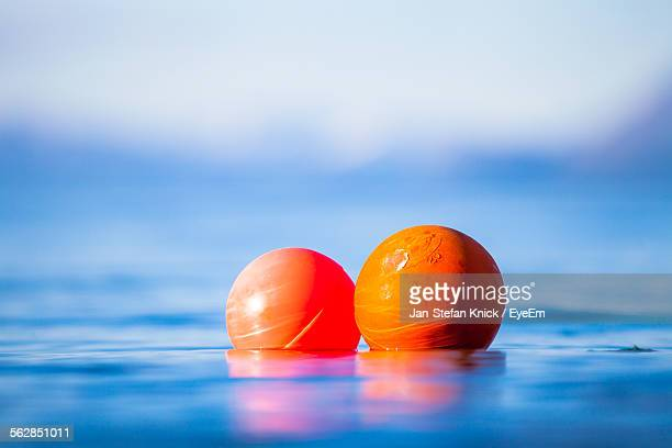 Surface Level Of Buoys Floating On Water