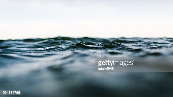 Surface level view of sea