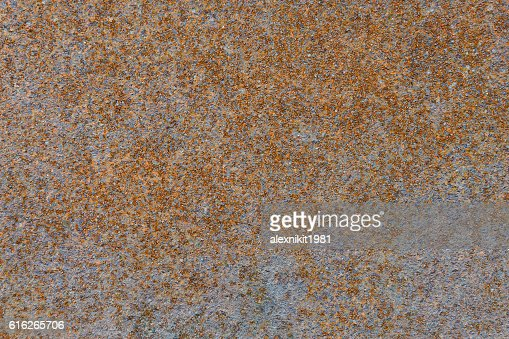 surface of an old rusty metal plate : Stock Photo