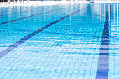 Surface of swimming pool outdoor.