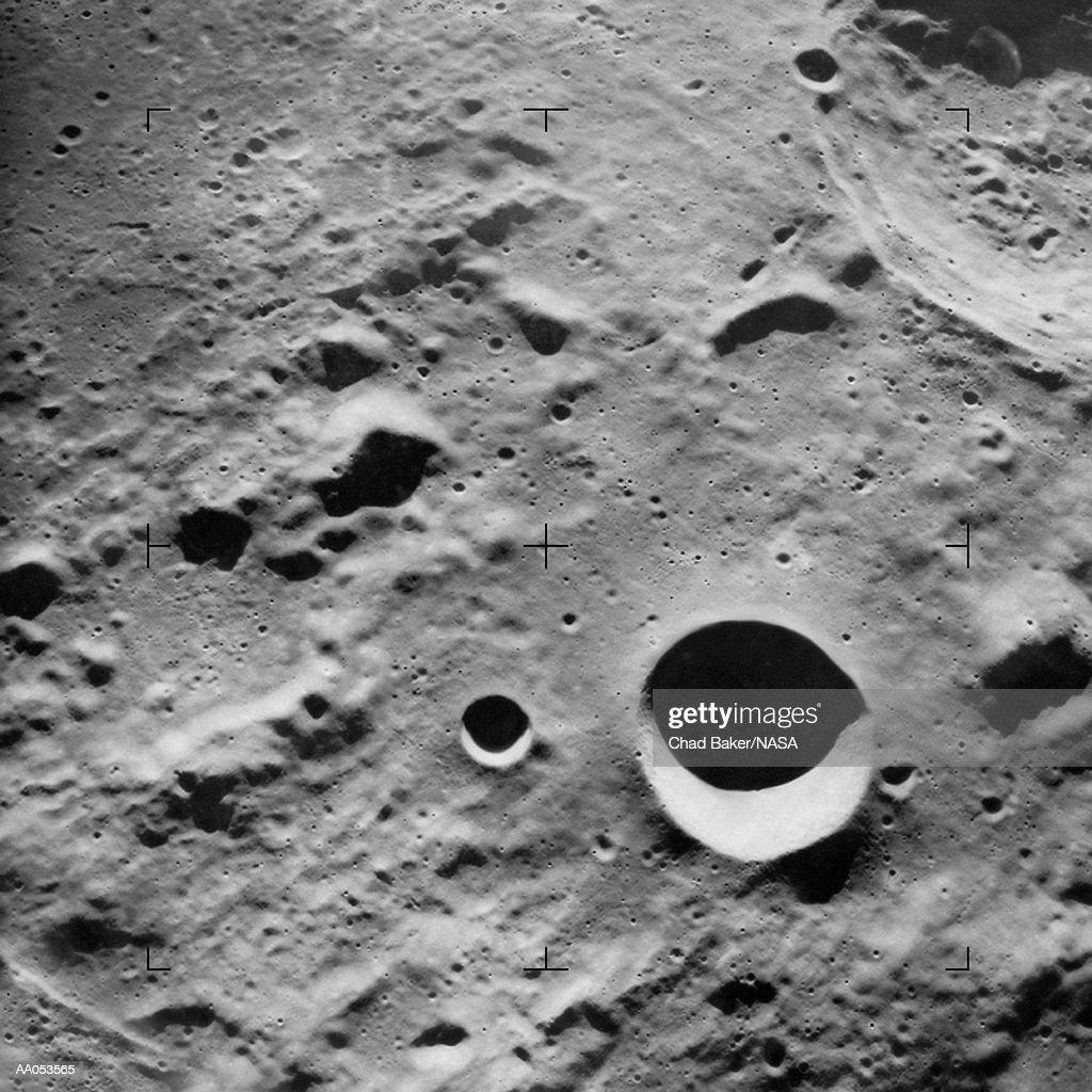 Surface of the moon, close-up : Stock Photo