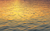 urface of water and wave in sunset time for background material