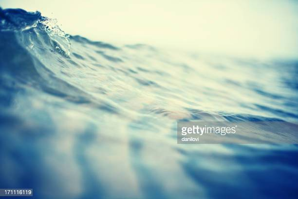 Surface of water with slight wave