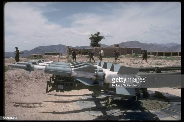 Surfacetoair missile radar site above Kabul taken by government allied Dostamled Uzbek militia battling dissident mujahedin of Hekmatyar's HezbiIslami